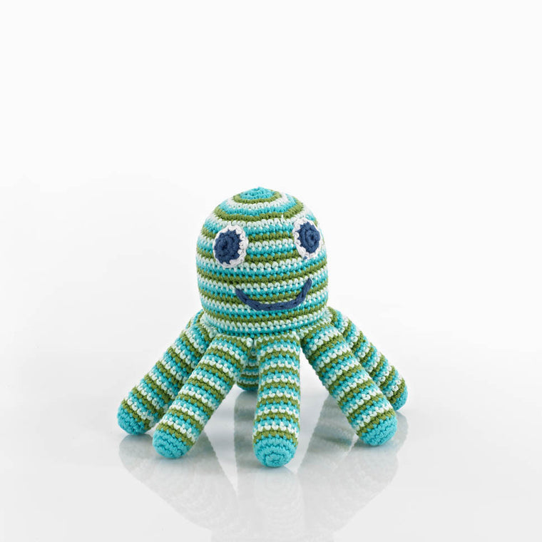 Octopus Rattle - Blue
