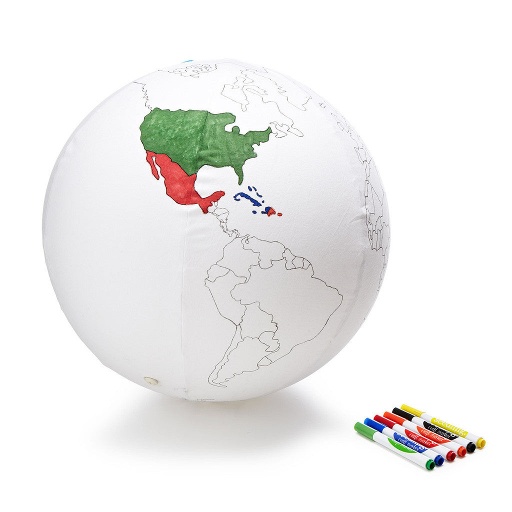 Colour the Earth Inflatable Globe