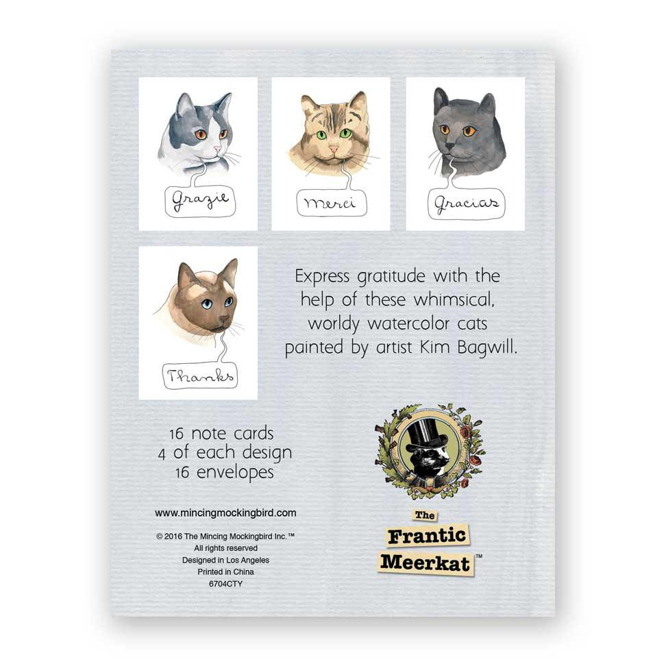 International Cat Thank You Cards