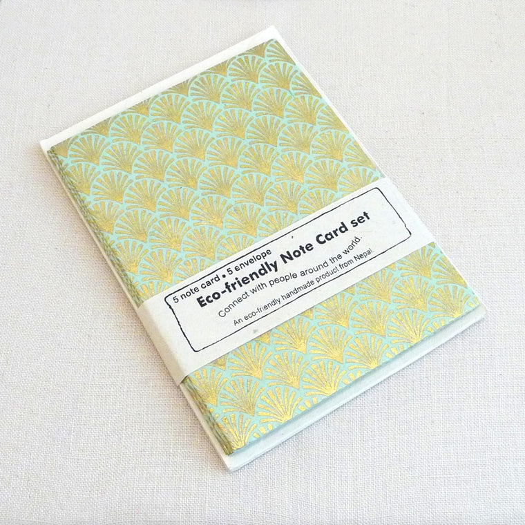 Lokta Paper Note Cards - Scallop