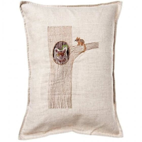 Owl in Tree Pillow
