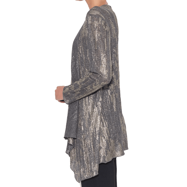 Clarity 2/1 Cardigan - Silver Cardigan - Women's Long Sleeve Top Tops Clarity