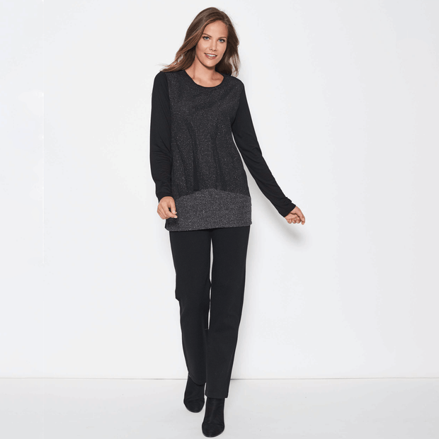 Clarity Top - Black - Women's Long Sleeve Top Tops Clarity