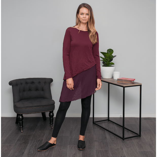 Grace Tunic - Wine Tops Vigorella
