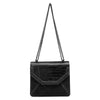 'Amara' Croco Shoulder Bag - OB4445- RRP $89.95 - Black - Olga Berg Handbags and Bags Online