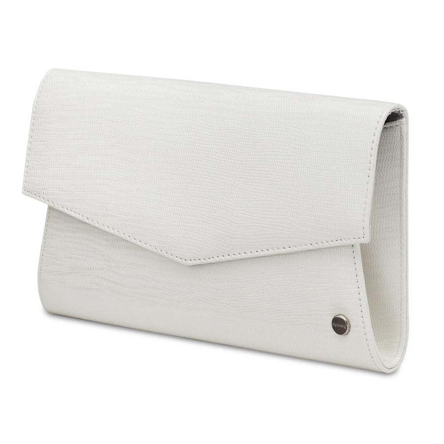 EMOGENE Micro Reptile Clutch- RRP $69.95 - White - Olga Berg Handbags and Bags Online