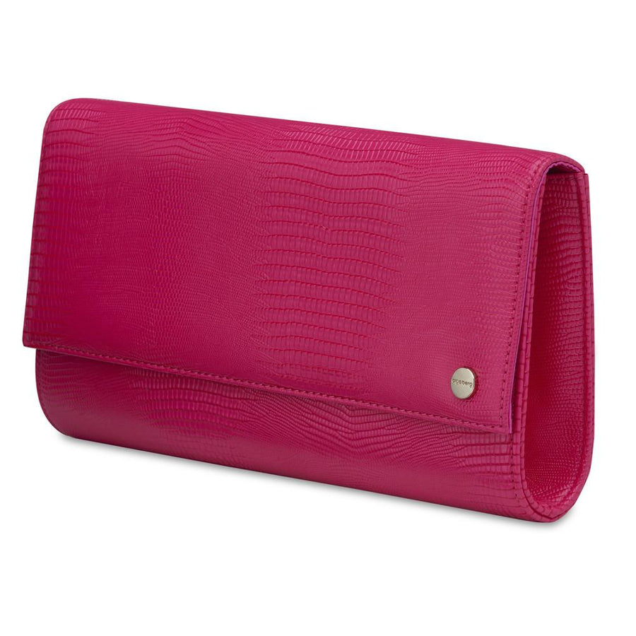 CHRISTIE Micro Lizard Clutch- RRP $69.95 - Fuchsia - Olga Berg Handbags and Bags Online