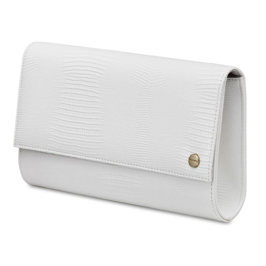 CHRISTIE Micro Lizard Clutch- RRP $69.95 - White - Olga Berg Handbags and Bags Online