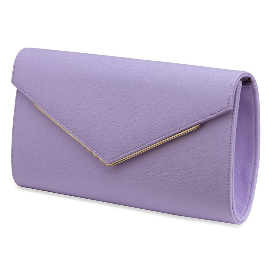 EDITH Simple Slimline Clutch- RRP $79.95 - Lavender - Olga Berg Handbags and Bags Online