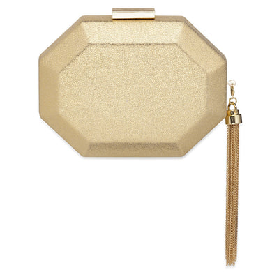 SIA Metallic Octagon Pod- RRP $99.95 - Gold - Olga Berg Handbags and Bags Online
