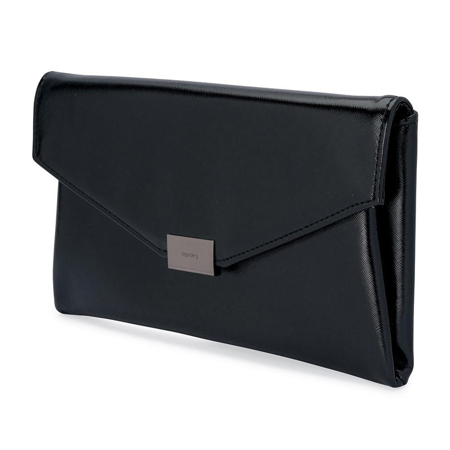 KARIN Etched Patent Fold Over- RRP $79.95 - Black - Olga Berg Handbags and Bags Online