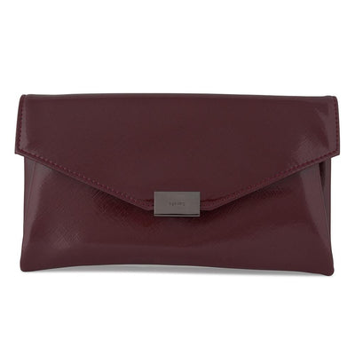 KARIN Etched Patent Fold Over- RRP $79.95 - Burgandy - Olga Berg Handbags and Bags Online