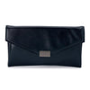 KARIN Etched Patent Fold Over- RRP $79.95 - Navy - Olga Berg Handbags and Bags Online