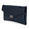 KARIN Etched Patent Fold Over- RRP $79.95 - Navy - side - Olga Berg Handbags and Bags Online
