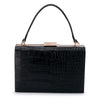 FLORENE Reptile Top Handle- RRP $109 - Black - Olga Berg Handbags and Bags Online