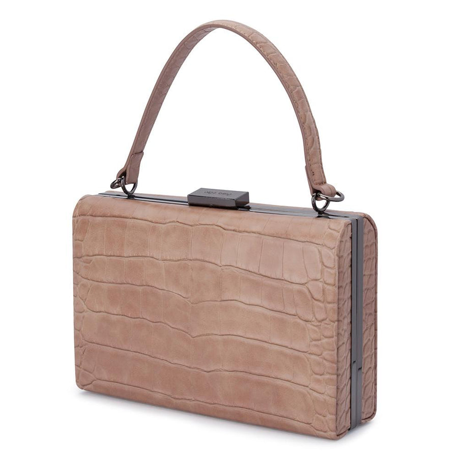 FLORENE Reptile Top Handle- RRP $109 - Natural - Olga Berg Handbags and Bags Online