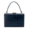 FLORENE Reptile Top Handle- RRP $109 - Navy - Olga Berg Handbags and Bags Online