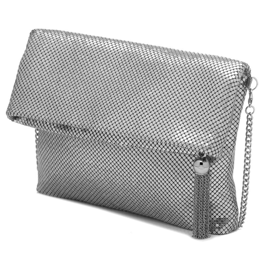 JADA Mesh Clutch with Tassel