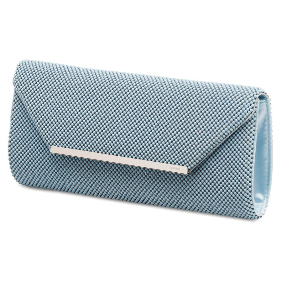 GIANNA Ball Mesh Fold Over - RRP $79.95 - Blue - Olga Berg Handbags and Bags Online