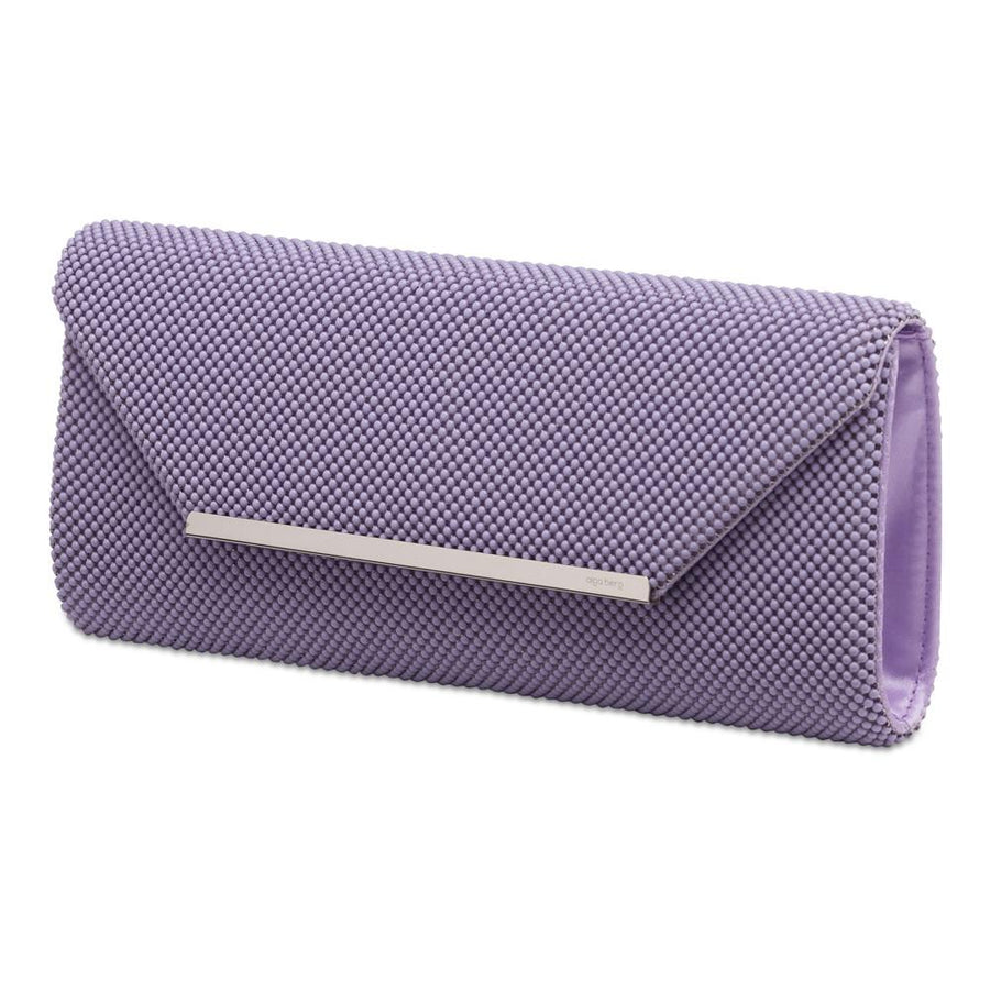 GIANNA Ball Mesh Fold Over - RRP $79.95 - Lilac - Olga Berg Handbags and Bags Online