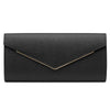 'Blair' Metal Trim Oversized Clutch - OB6248- RRP $69.95 - Black - Olga Berg Handbags and Bags Online
