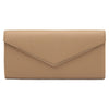'Blair' Metal Trim Oversized Clutch - OB6248- RRP $69.95 - Natural - Olga Berg Handbags and Bags Online