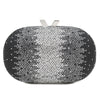 Ombré Effect Diamonte Oval Pod  - OB7135 -  RRP $109 - OB7135 Silver - Olga Berg Handbags and Bags Online