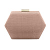 EMERY Sinamay Hex Pod- RRP $109 - Blush - Olga Berg Handbags and Bags Online