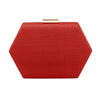 EMERY Sinamay Hex Pod- RRP $109 - Red - Olga Berg Handbags and Bags Online