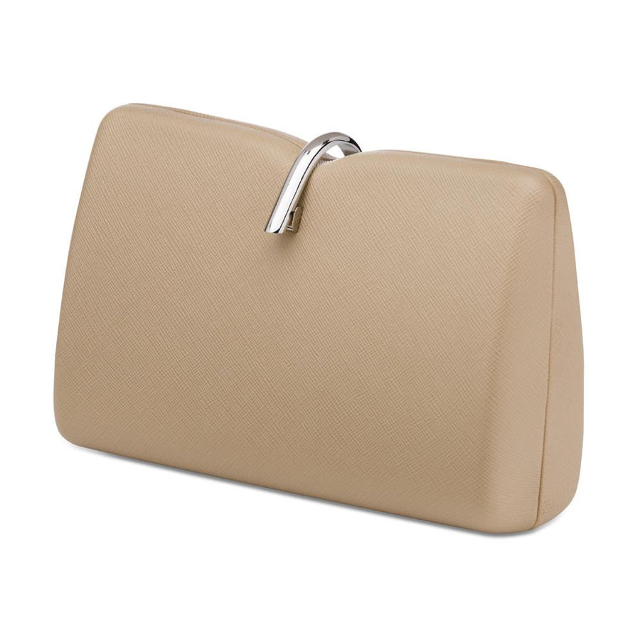VIENNA Simple Top Lock Pod- RRP $119 - Natural - Olga Berg Handbags and Bags Online