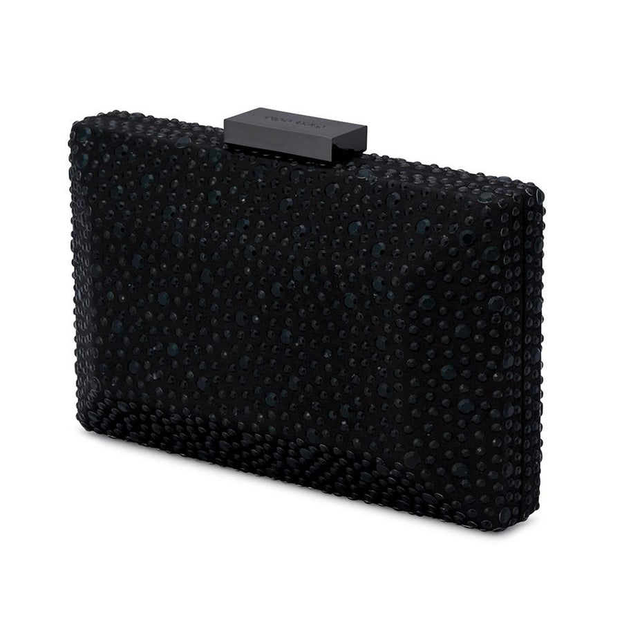 MACY Square Facetted Clutch- RRP $99.95 - Black - Olga Berg Handbags and Bags Online