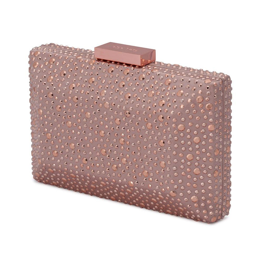 MACY Square Facetted Clutch- RRP $99.95 - Blush - Olga Berg Handbags and Bags Online