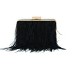BEAST Ostrich Feather Pod- RRP $149 - Black - Olga Berg Handbags and Bags Online