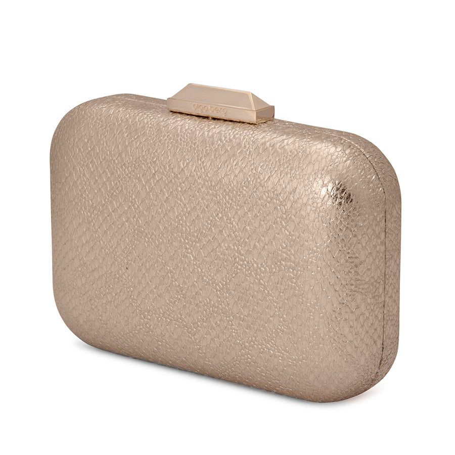 DIANA Metallic Reptile Pod- RRP $89.95 - Gold - Olga Berg Handbags and Bags Online