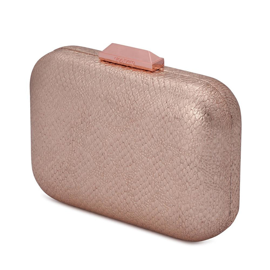DIANA Metallic Reptile Pod- RRP $89.95 - Rose Gold - Olga Berg Handbags and Bags Online