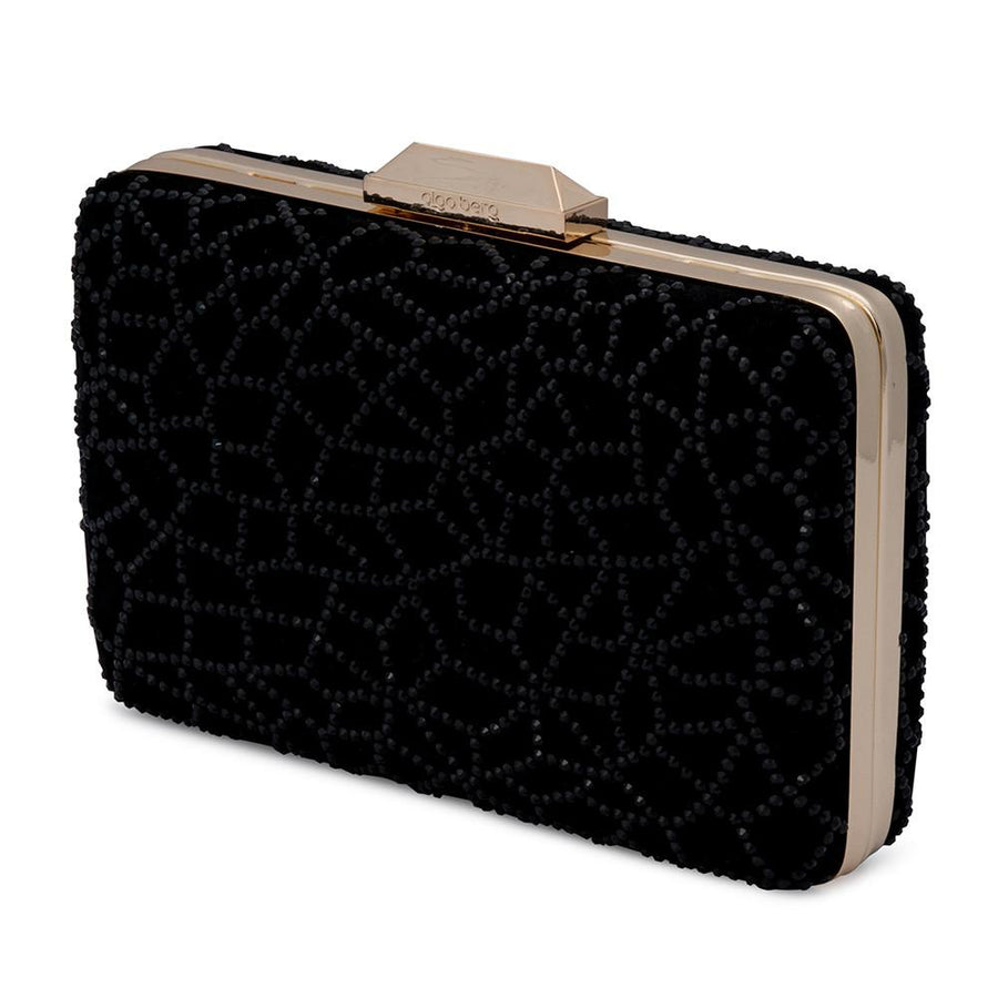DENISE Crystal Hot Fix Pod- RRP $189 - Black - Olga Berg Handbags and Bags Online