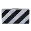 ALLISON Candy Stripe Pod- RRP $149 - Black-White - Olga Berg Handbags and Bags Online