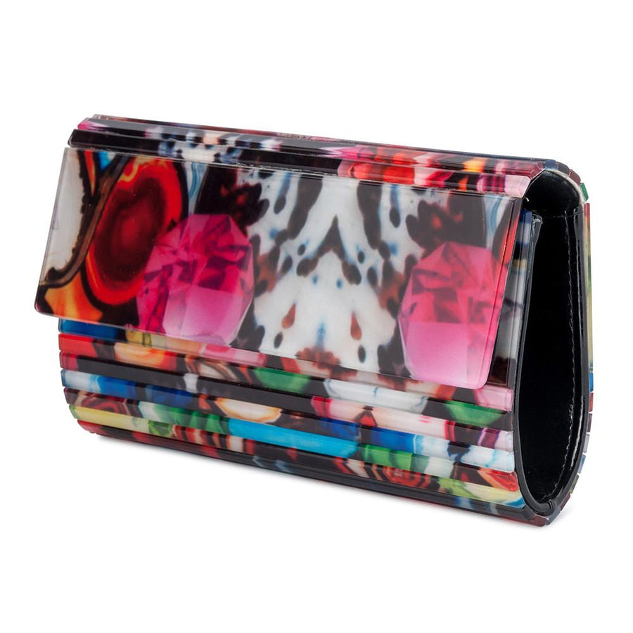 AURORA Foldover Clutch- RRP $129 - Multi - Olga Berg Handbags and Bags Online
