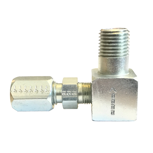 "Premier Right Angle 1/4"" Tubing x 1/4"" Male Pipe Double Ball Check Valve"