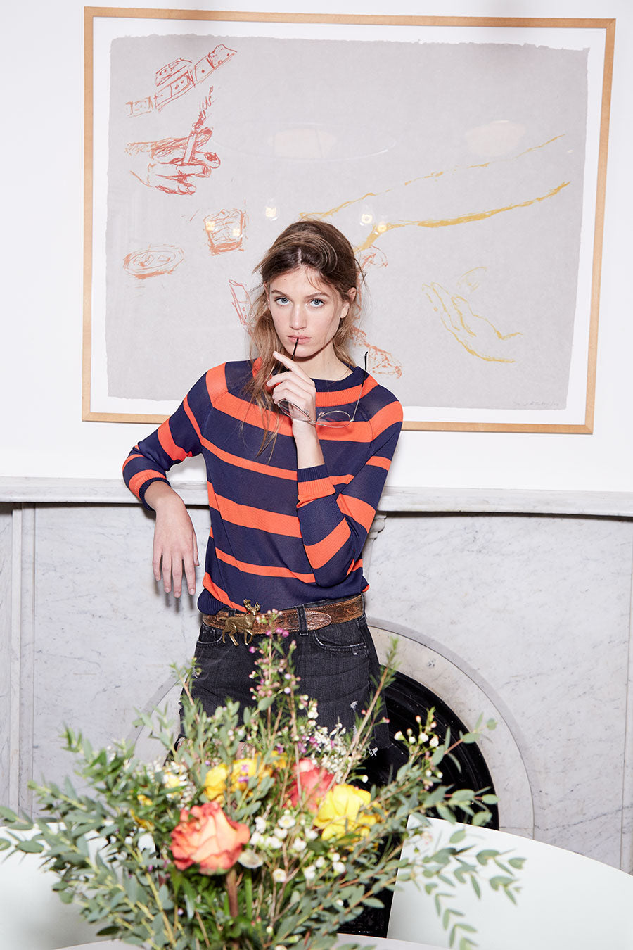 Lookbook Navy/Poppy Sweater