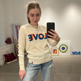 The Cashmere LOVE Crewneck Knit - Cream