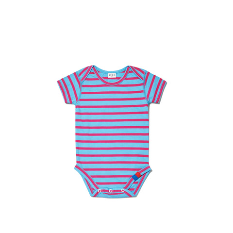 The Onesie - Light Blue/Magenta