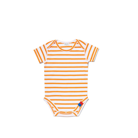 The Onesie - White/Orange