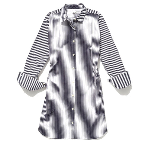 The Shirt Dress - White/Navy