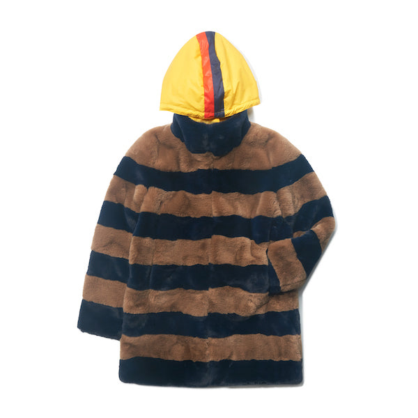 The Hooded Blythe - Camel/Navy