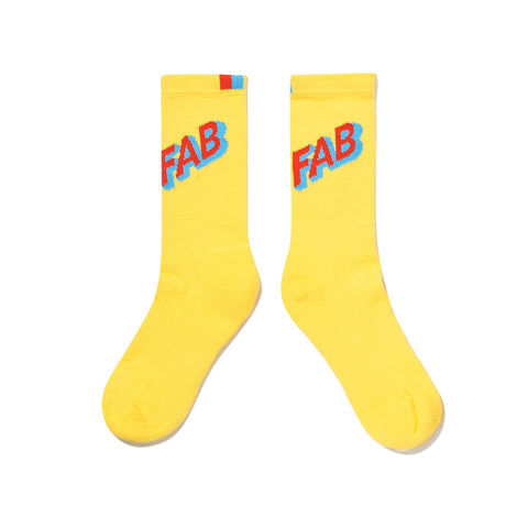 The Women's FAB Sock - Yellow