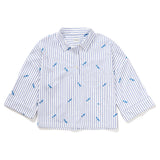 The Keaton Embroidered Shirt - White