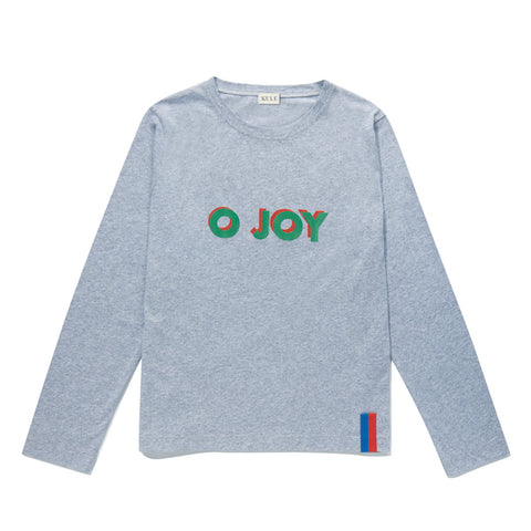 The Modern Long O JOY - Heather Grey