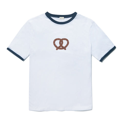 The Pretzel Ringer Tee - White