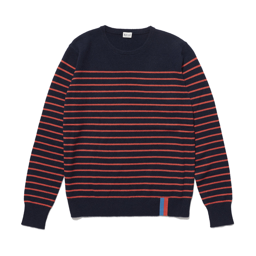 The Sophie Cashmere Sweater - Navy/Red